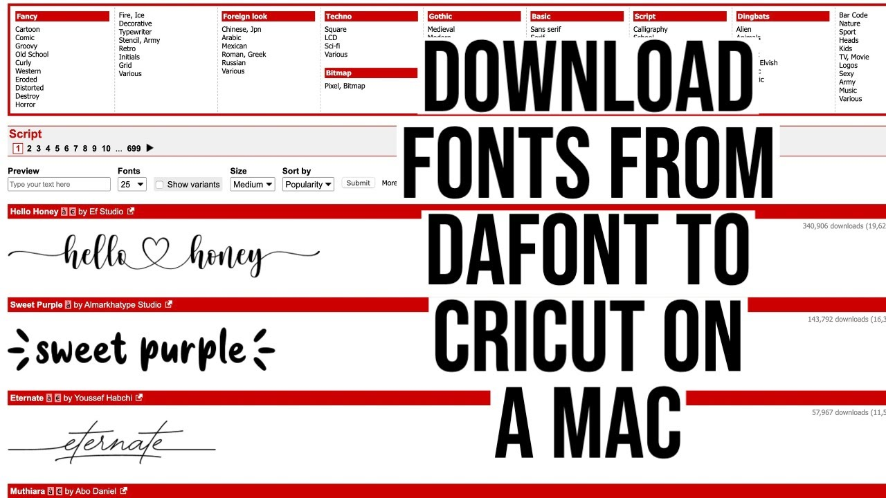 My Favorite Free Fonts From Dafont Youtube