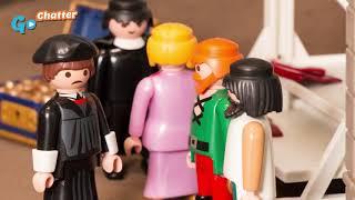 A história de Martinho Lutero animação em Playmobil