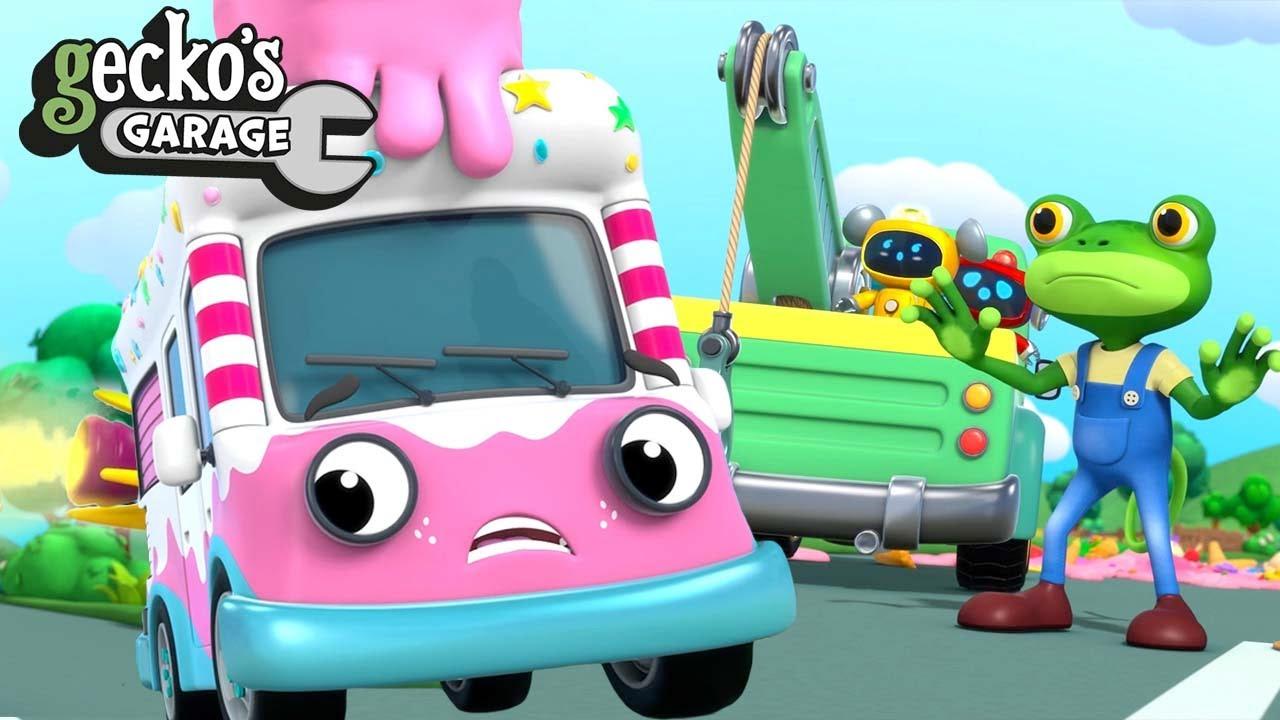 Ice Cream Rocket Rescue | Gecko's Garage | Trucks For Children | Cartoons For Kids