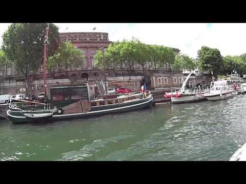 ស្ទឹងសែនប៉ារីស ហ្វ្រង់ Seine River Tour,Paris France.