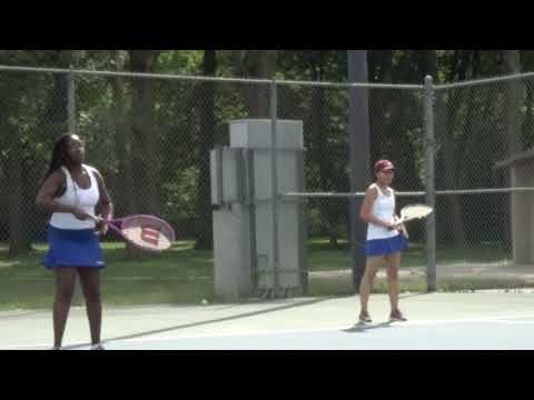 2019 Girls Tennis - Lincoln Prep Blue Tigers (5) vs. Kansas City Lutheran (4) on 09.10.2019