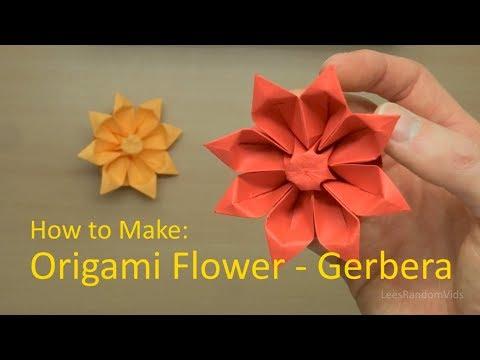 How to Make Origami Flowers - How to make an Origami Gerbera Tutorial