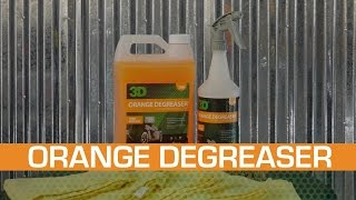 How to use Orange Degreaser in detailing on car seats and carpet with microfiber. exterior
