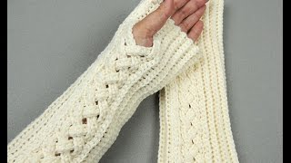 Repeat youtube video Crochet: Guantes sin dedos o Mitones # 3