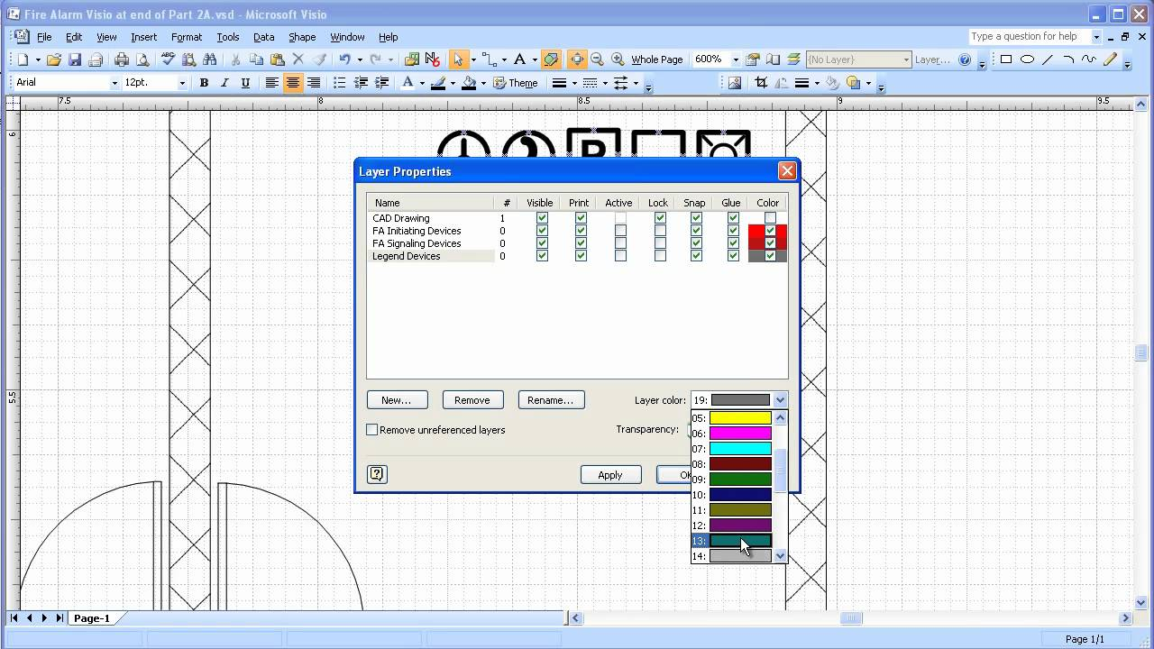 Visio 2003  2007 Electrical Systems Drawing Part 3