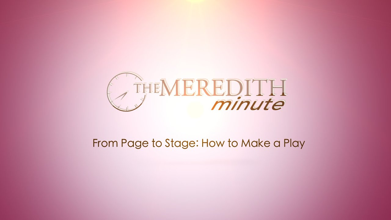 how to make a stage play
