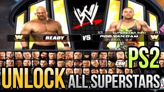 WWE Smackdown Vs Raw 2011 PS2 - How to Unlock all Characters/Superstars PCSX2 Emulator