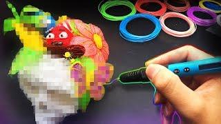 3D PEN ART CHALLENGE !!