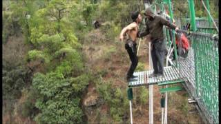 525 Feet Thrilling Bungee Jumping in Nepal, The 3rd Highest  Natural Jump in World!