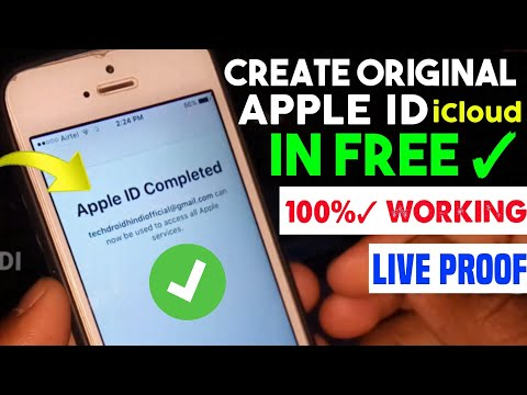 How To Make IPhone ICloud ID || Create Original Apple ID Permanently