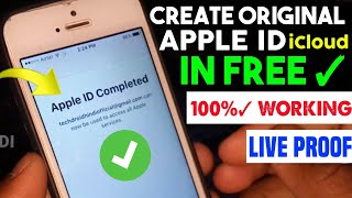 How To Make iPhone iCloud ID || Create Original Apple ID Permanently