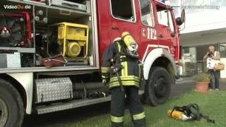 Duisburg Feuerwehr Übung am Masurensee