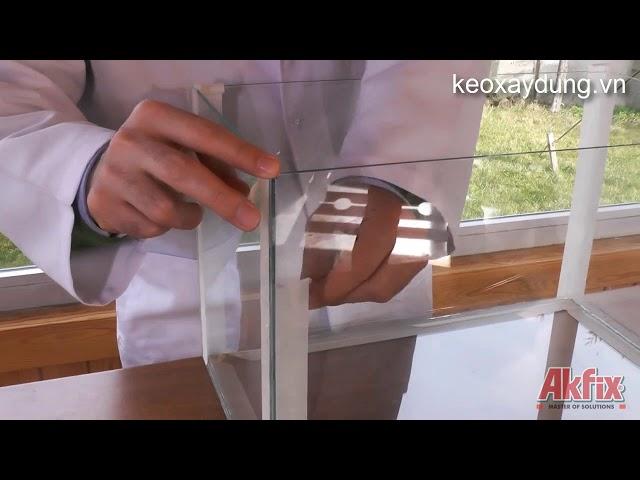 Hướng dẫn lắp đặt bể cá với Keo Akfix Aquarium silicone 100AQ