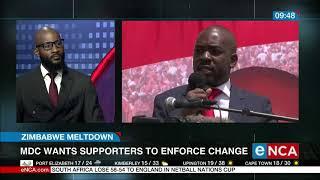 Chamisa: Zimbabwe facing civil war