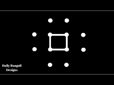 Very Simple Kolam With 4X2 dots #739 | Muggulu Designs | Easy Rangoli | Easy Simple Kolam Rangoli