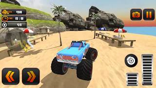 Monster Truck Water Surfing: Truck Racing Games Grand Game-Play