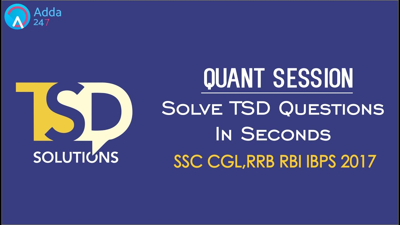 SSC CGl, RBI, RRB, | Time Speed Distance Shortcuts | Maths | Online ...