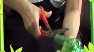 4 แจกันจากขวดพลาสติก