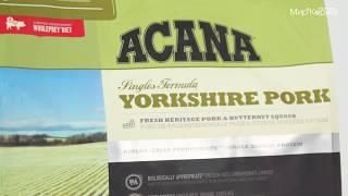 Обзор корма Acana Yorkshire Pork для собак с чувствительным пищеварением