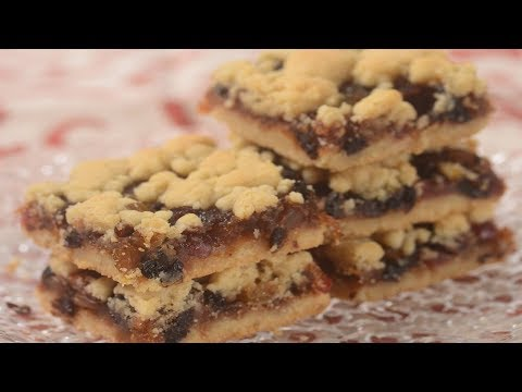 Mincemeat Shortbread Bars Recipe Demonstration - Joyofbaking.com
