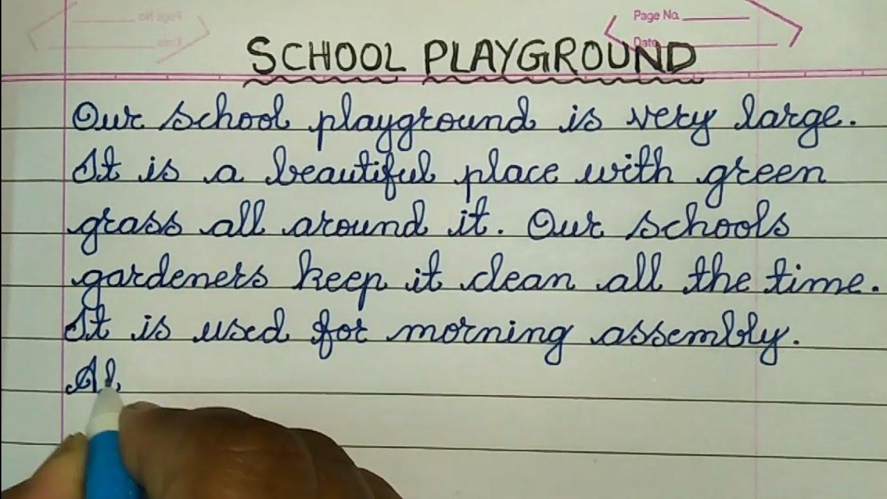 Essay about a playground dissertation topics electronics communication