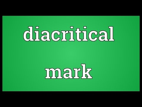 Diacritical mark Meaning