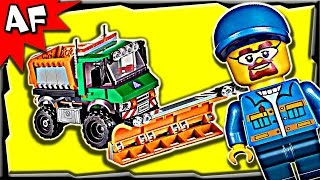 Lego City Snowplow Truck 60083 Stop Motion Build Review