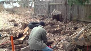 Chop Firewood Efficiently, Review Craftsman Chainsaw