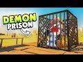 BUILDING A PRISON FOR THE DESERT DEMON - Desert Skies Gameplay (Raft Clone)