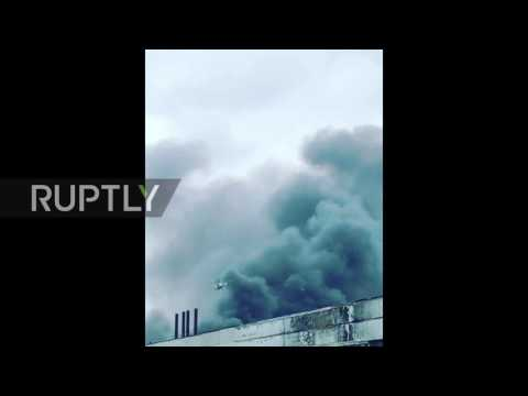 Russia: Massive fire breaks out at Kirov Plant in St. Petersburg