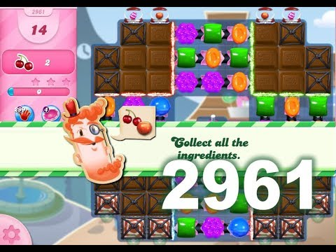 Candy Crush Saga Level 2961 (3 stars, No boosters)