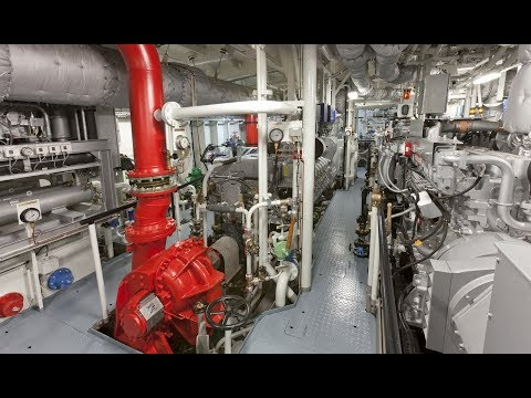 Offshore Support Vessel Engine Room