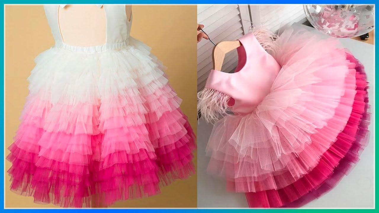 Vestido De Princesa Con Tul Para Niñas Youtube