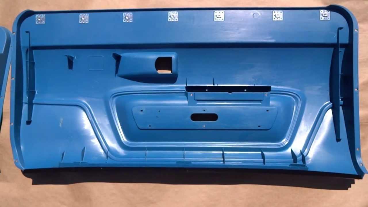 1970-74 Challenger Interior Door Panels Blue & 1970-74 Challenger Interior Door Panels Blue - YouTube