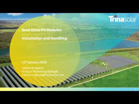 Webinar: Dual Glass PV Modules Installation and Handling