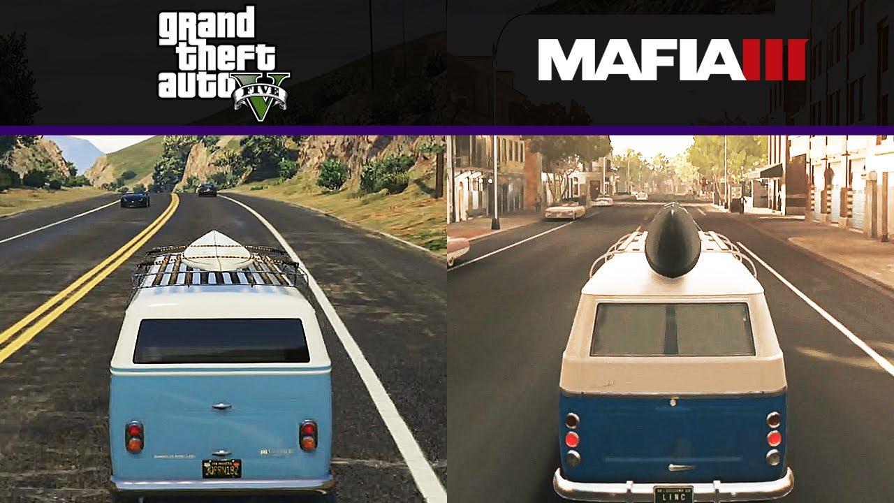 VW Bus 2017 >> Comparison: VW Van - GTA V vs Mafia 3 - YouTube