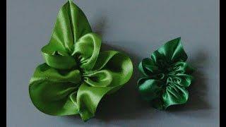 Lindas folhas de fita – Tutorial – Flor do Jardim