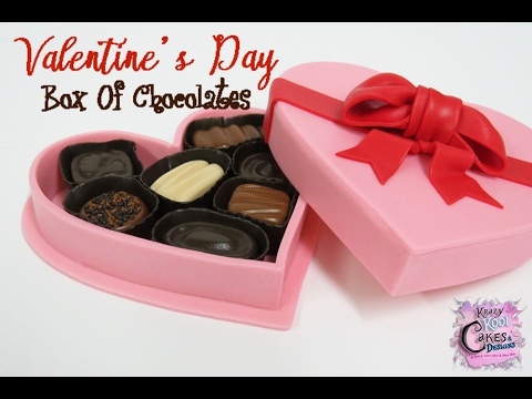 Valentine\'s Day Box Of Chocolates Cake Topper - EASY HOW TO - YouTube