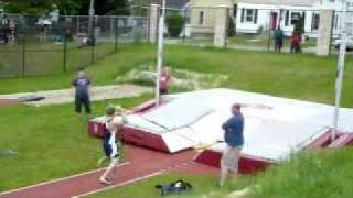 Nate Hop pole vaulting 15'7''