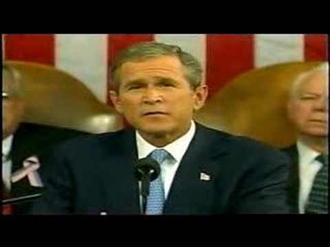 """G.W.Bush Declares """"Freedom and Fear are at war"""" -Sep.20,2001"""