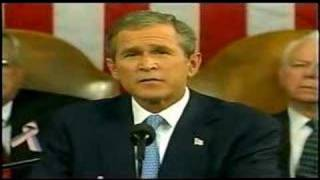 "G.W.Bush Declares ""Freedom and Fear are at war"" -Sep.20,2001"