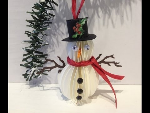Paper Snowman Ornament Tutorial