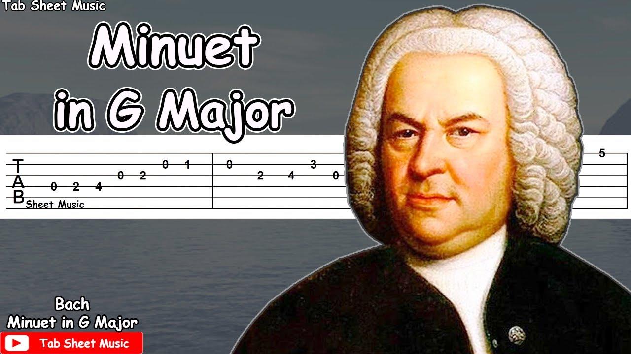 Bach - Minuet in G Major Guitar Tutorial