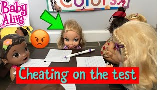 BABY ALIVE School Spelling Test Plus Cafeteria Lunch Baby Alive Videos