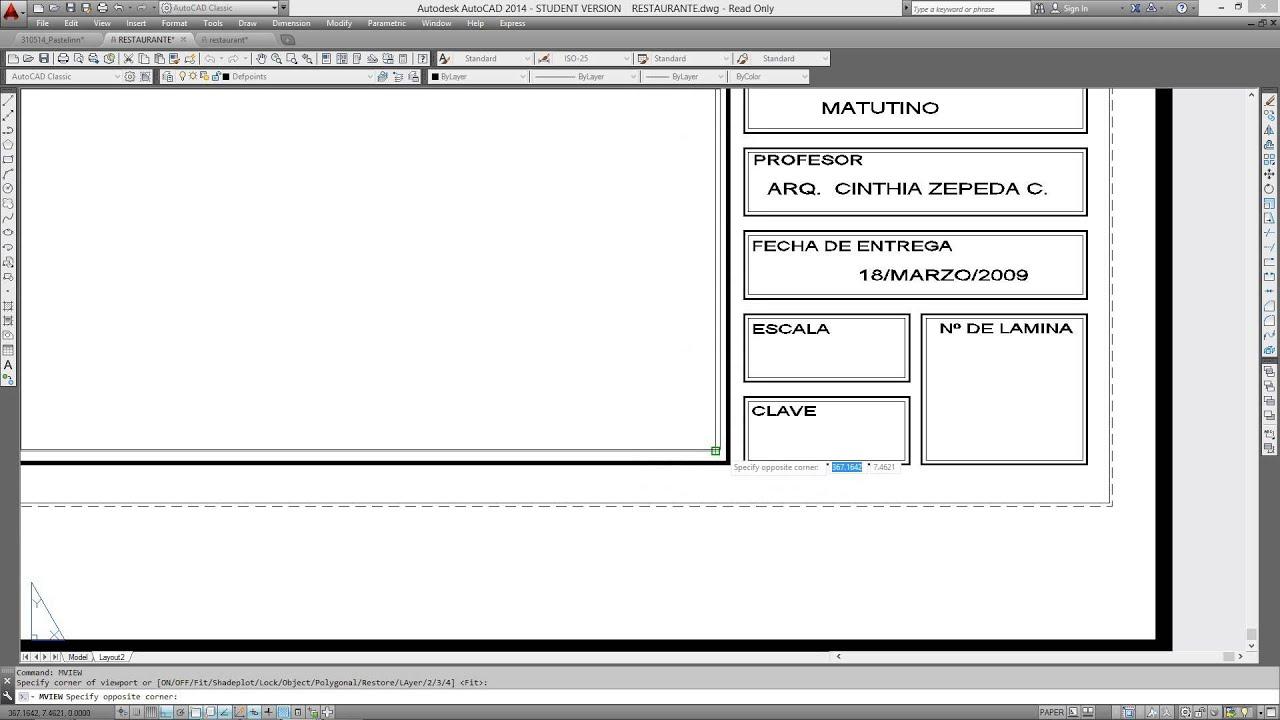 Copiando una solapa de otro plano y configurando para for Pie de plano arquitectonico