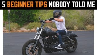 Five Beginner Tips Noḃody Told Me | How To Get More Comfortable Riding Motorcycles