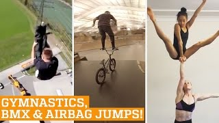 TOP FIVE: Acrobatic Gymnastics, BMX & Extreme Airbag Jumps | PEOPLE ARE AWESOME