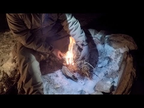 Snow in the Red Rocks of Utah - Camp - Insulated Hammock - Passive Cooking - Scenery
