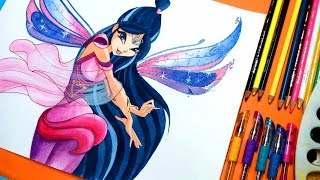✿ how to draw winx club musa bloomix✿speedpainting