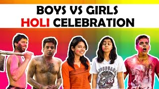 BOYS vs GIRLS | HOLI CELEBRATION | The Half-Tic...